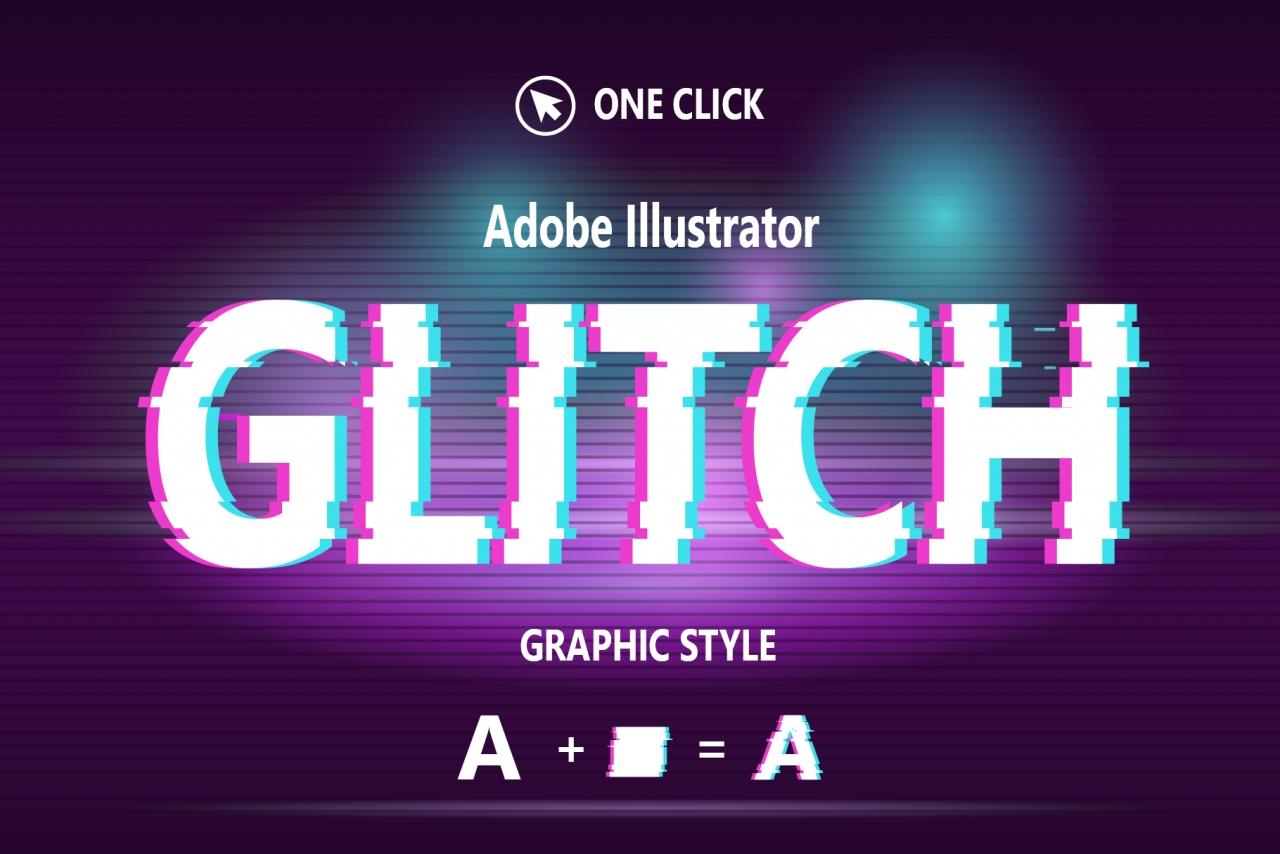 Glitch Graphic Style