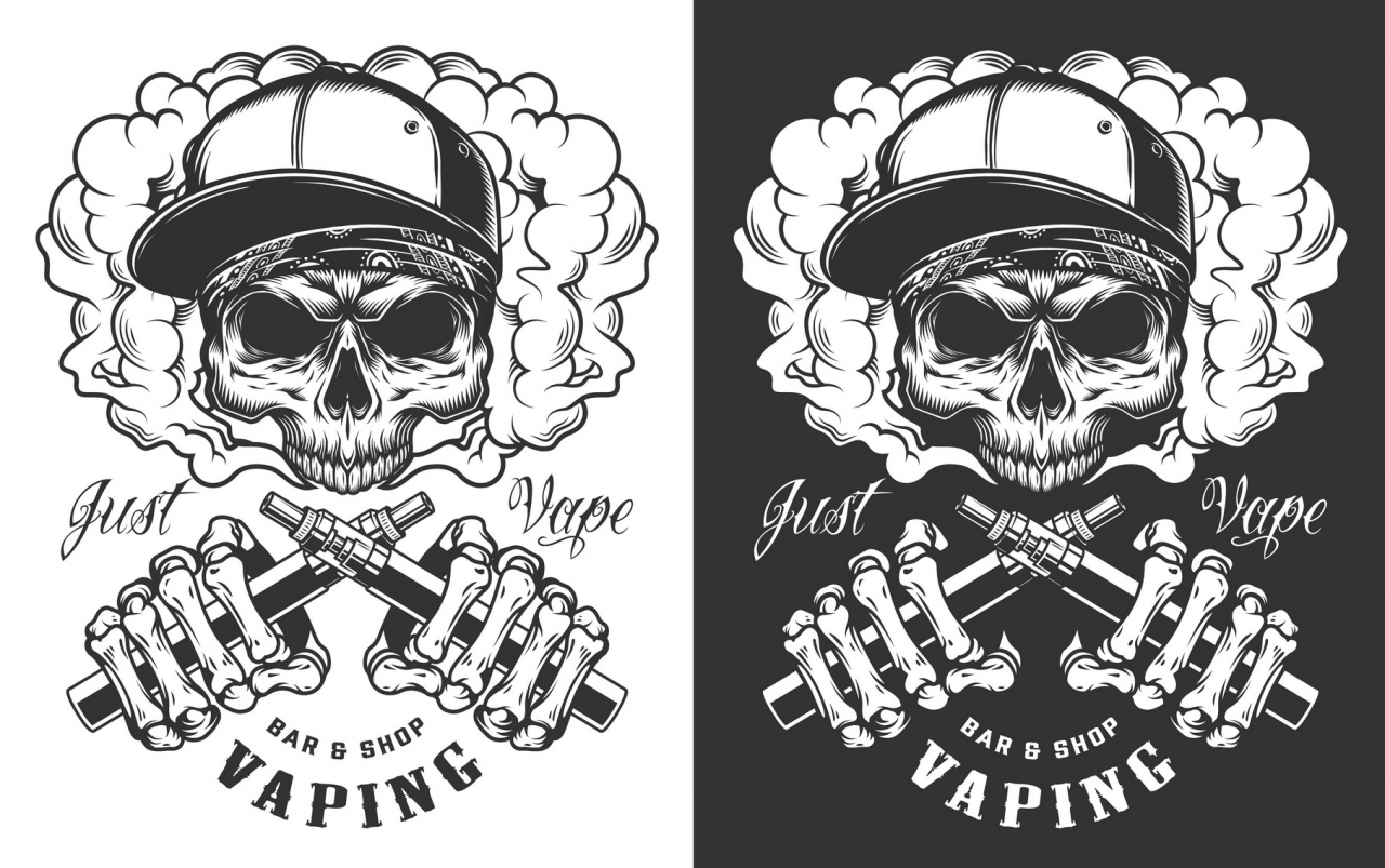 Vaping monochrome design