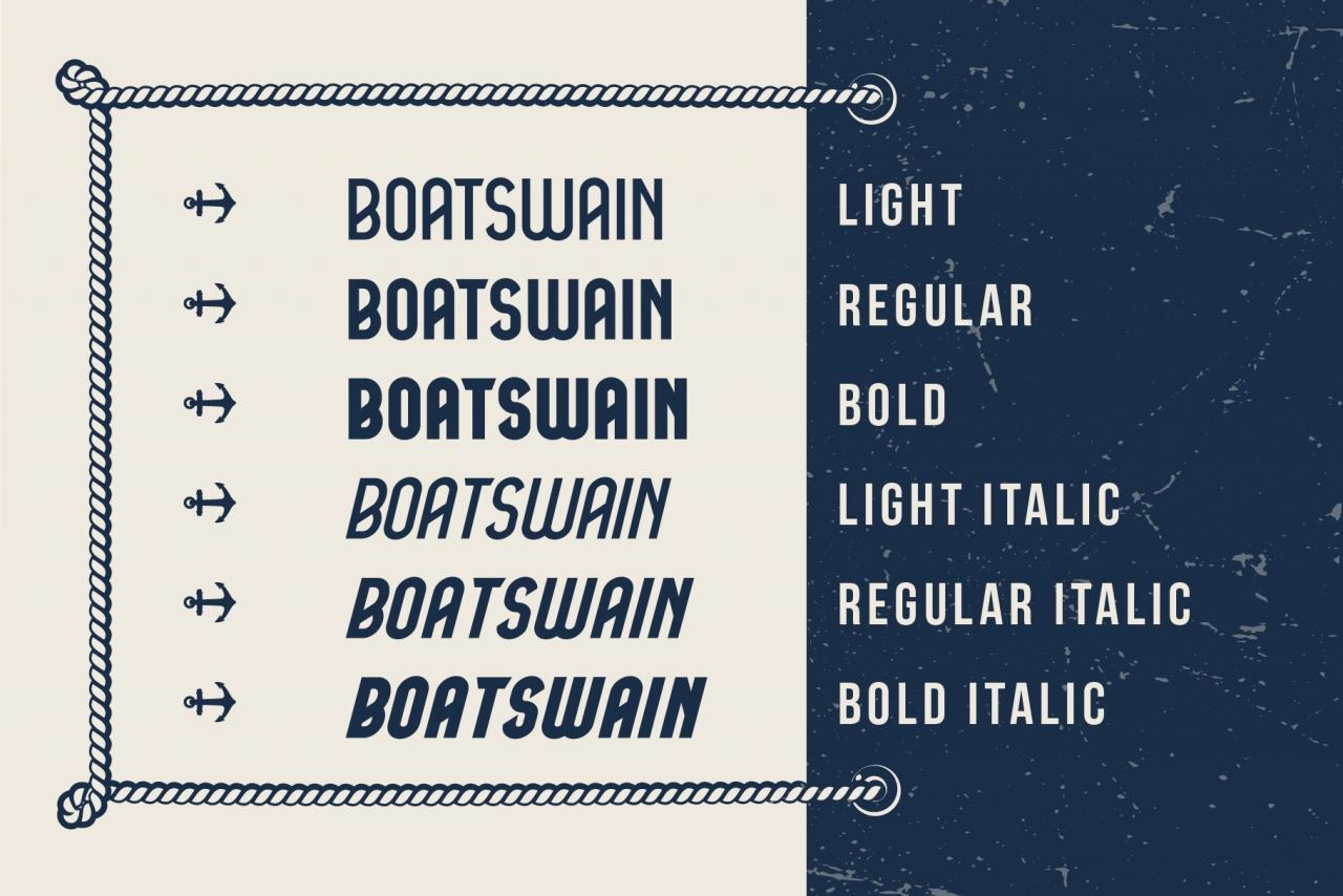 Vintage Boatswain Font