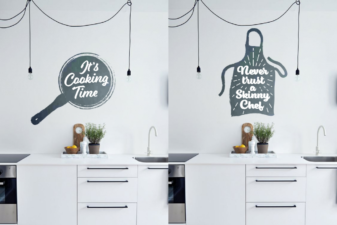 Cooking designs with quotes