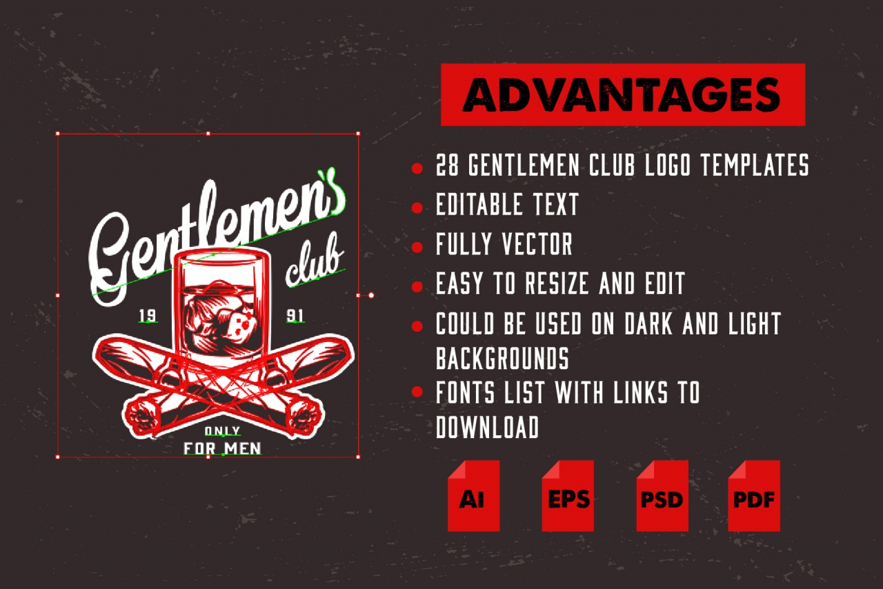 Gentlemen Emblems Set