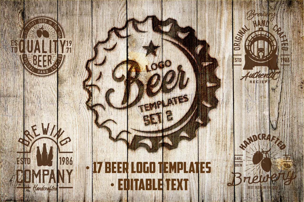 Beer template. Set 2