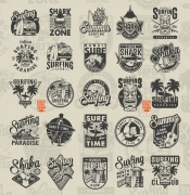 Vintage Surfing Emblems