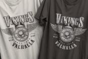 Vikings print design