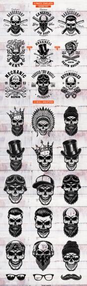 Skull prints bundle