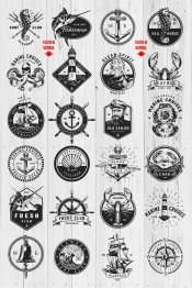 Nautical logo templates