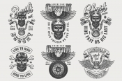 Vintage Bikers Designs Set