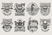 Vintage Diving Designs Set