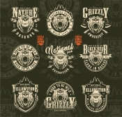 Vintage Outdoor Badges Set