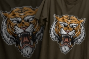 Vintage Angry Tiger Head Design