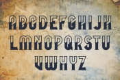 Mooring typeface alphabet on light background