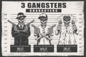 Three gangster characters