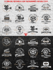 Cinema Emblems Set