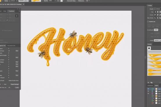 """Графический стиль """"Honey"""""""