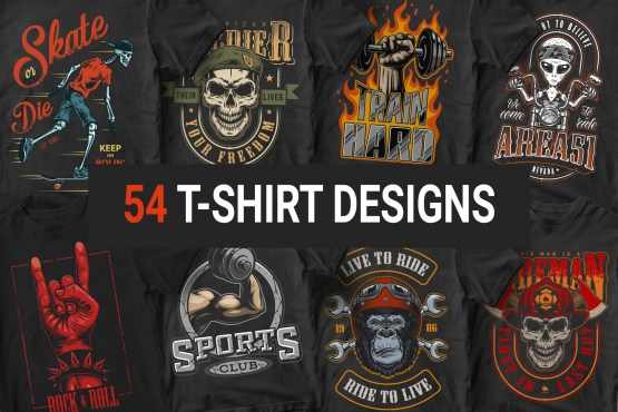54 colorful apparel designs