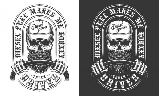 Skull trucker design