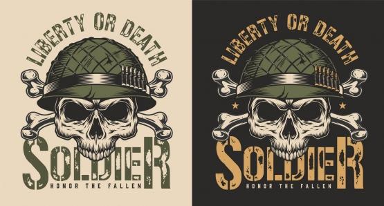 Military colorful design