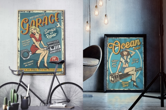 Pinup Retro Posters