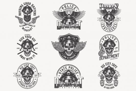 Vintage Police Designs Set