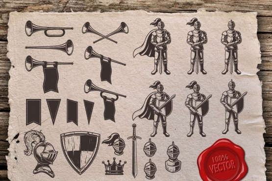 Knights templates and elements