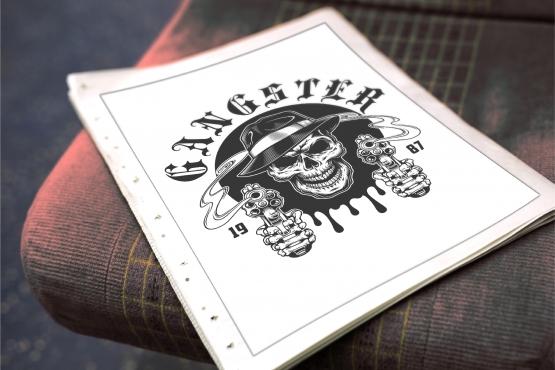 Gangsters emblem templates