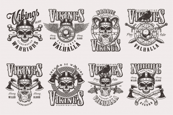 Apparel designs - Vikings