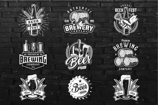 Beer templates. Set 1